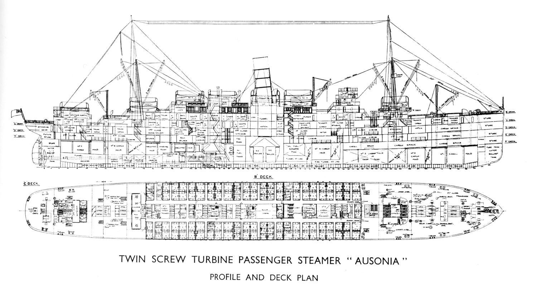 Container Ship Deck Plans : Ausonia
