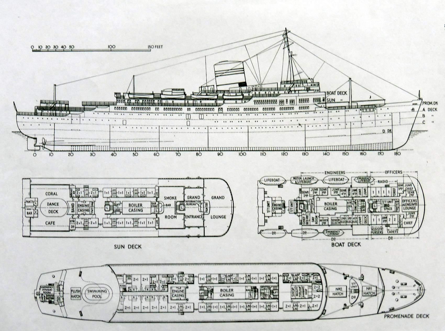 Container Ship Deck Plans : Ocean monarch